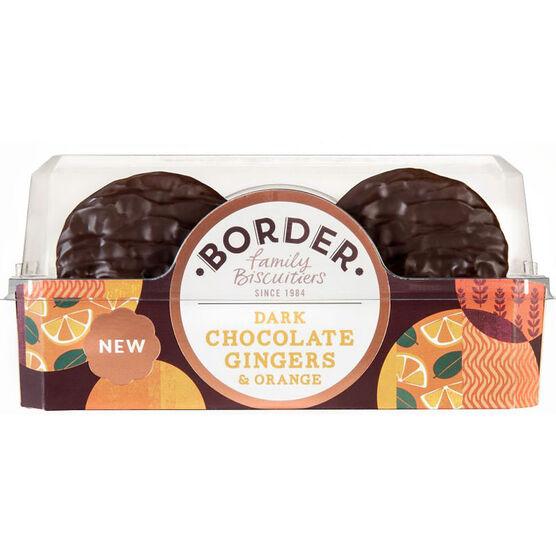 Border Dark Chocolate Biscuits - Ginger & Orange - 175g