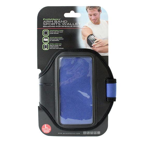 PurAthletics Arm Band Sports Wallet - Blue