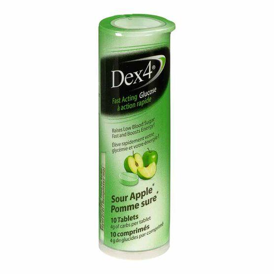 Dex4 Glucose Tablets - Sour Apple - 10's