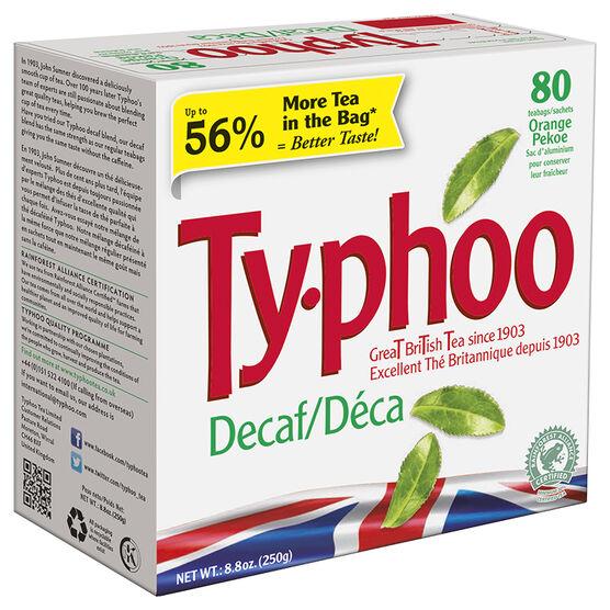 Typhoo Tea Decaffeinated - 80's