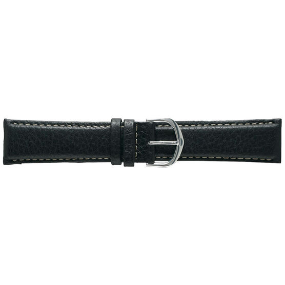 Timex Leather Watch Band - Black - 22mm - TX1969