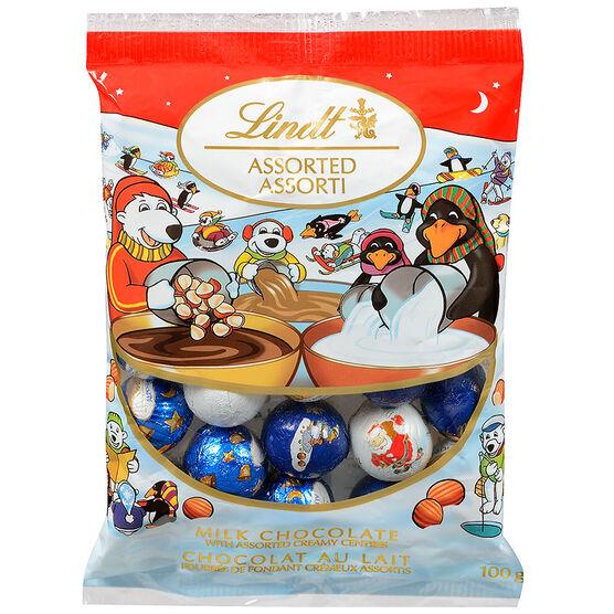 Lindor Mini Balls Assorted with Creamy Center - Milk Chocolate - 100g