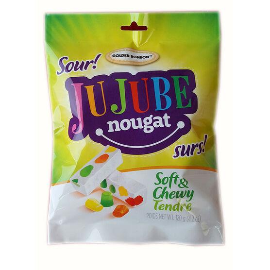 Golden Bonbon Sour Jujube Nougat - 120g