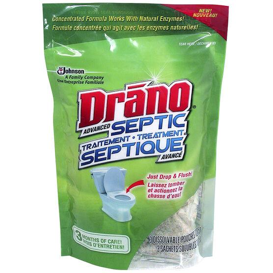 Drano Advanced Septic Treatment - 3x127.5g