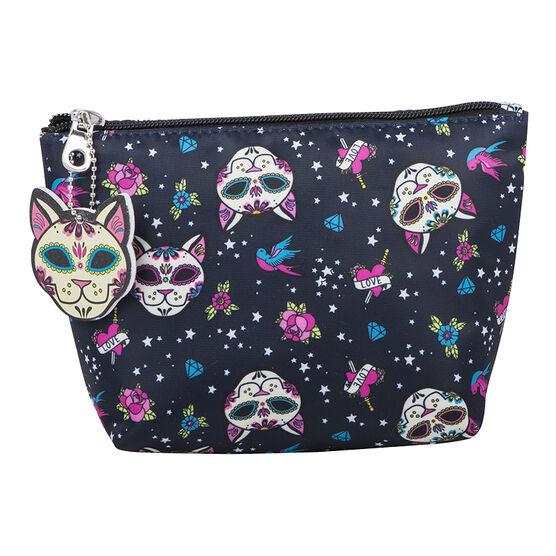 Modella Skull Kitty Purse with Nail File - Pink - A005117LDC