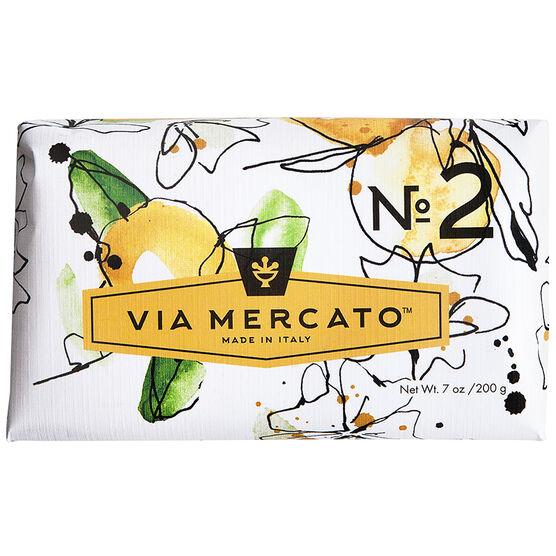 Via Mercato Soap - Green Tea & White Musk - 200g