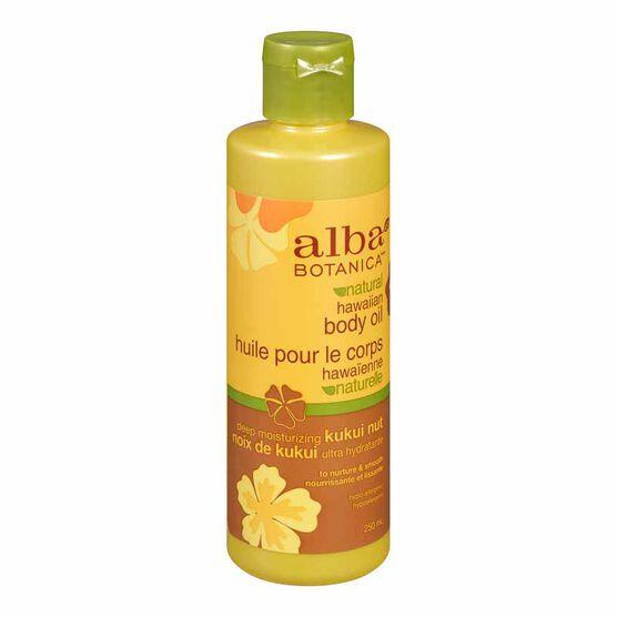 Alba Hawaiian Organic Body Oil - Kukui Nut - 250ml