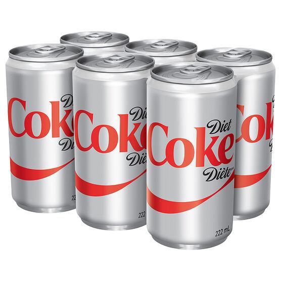 Coke - Diet - 6 x 222ml