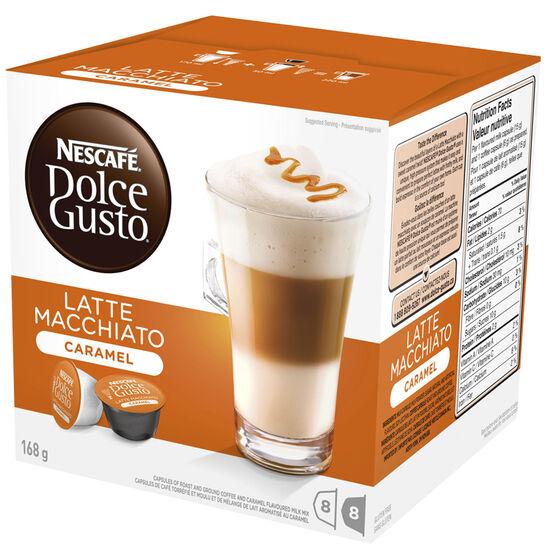 Nescafe Dolce Gusto Two Part Coffee Pods - Caramel Latte Macchiato - 8's