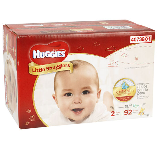 Huggies Little Snugglers Diapers - Step 2 - 92's