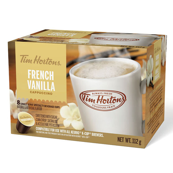Tim Hortons K- Cup Coffee - French Vanilla Cappuccino - 8 Servings