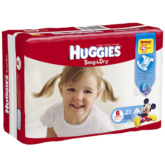 Huggies Snug & Dry Diapers - Size 6 - 21's