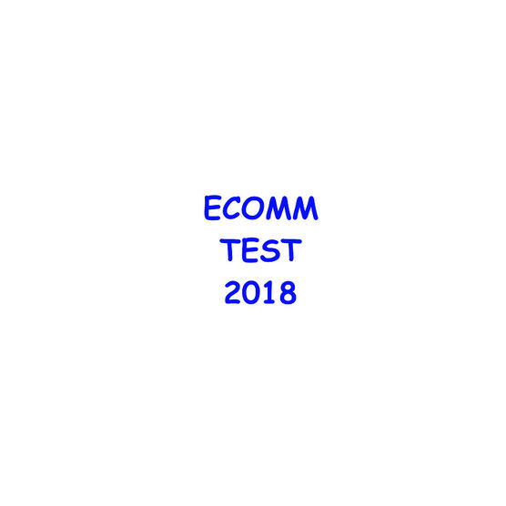 Ecomm Test Package