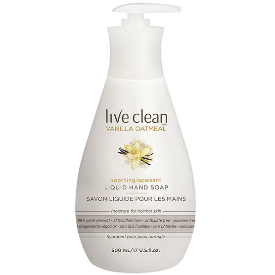 Live Clean Liquid Hand Soap - Vanilla Oatmeal - 500ml