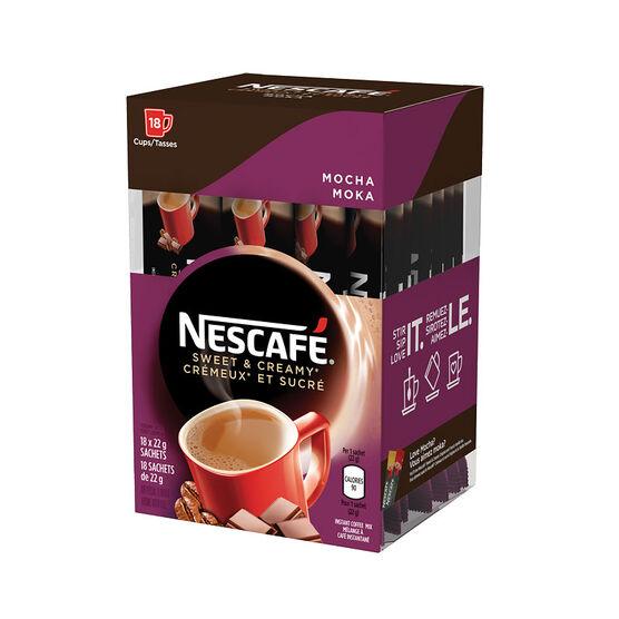 Nescafe Sweet & Creamy Instant Coffee - Mocha - 18x22g