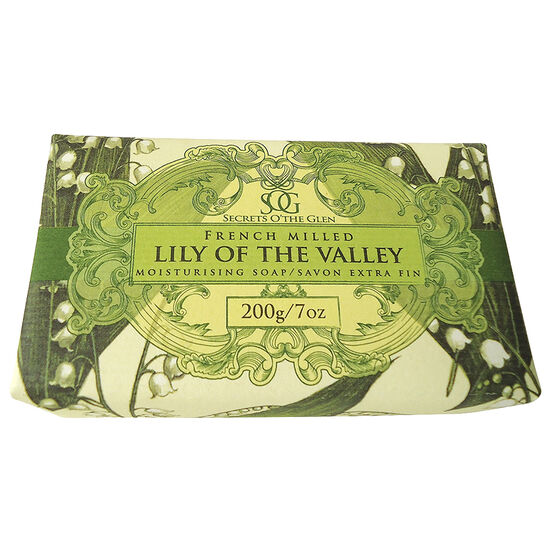 Secrets O'The Glen French Milled Moisturising Soap - Lily of the Valley - 200g