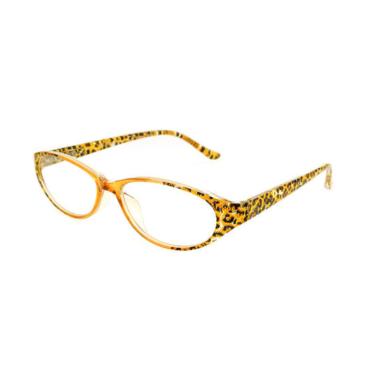 Foster Grant Kitty Reading Glasses with Case - Brown Leopard - 1.50