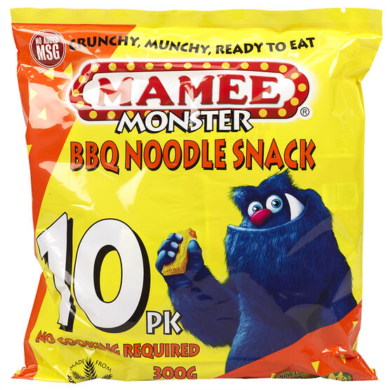 Mamee Monster Noodle Snack - BBQ - 300g
