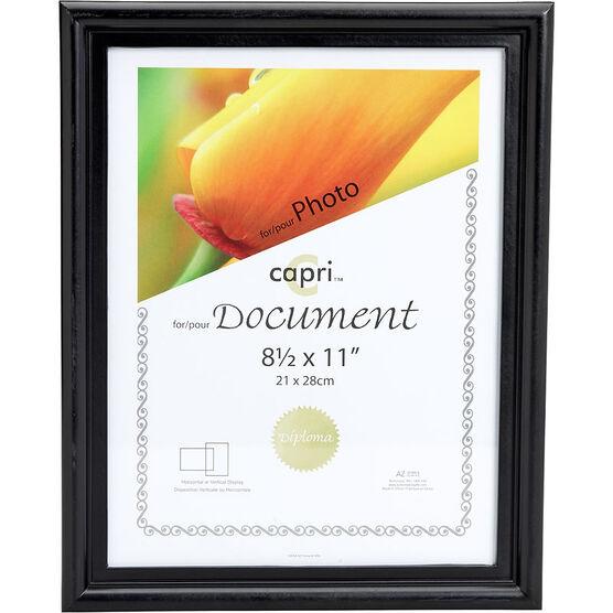 KG Embassy 8.5x11 Document Frame - Black
