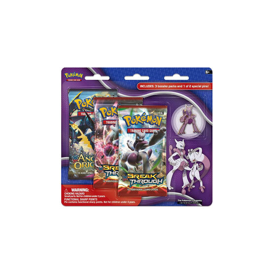 Pokémon TCG Mega Evolution Mewtwo X & Y Collector's Pins - 3 pack