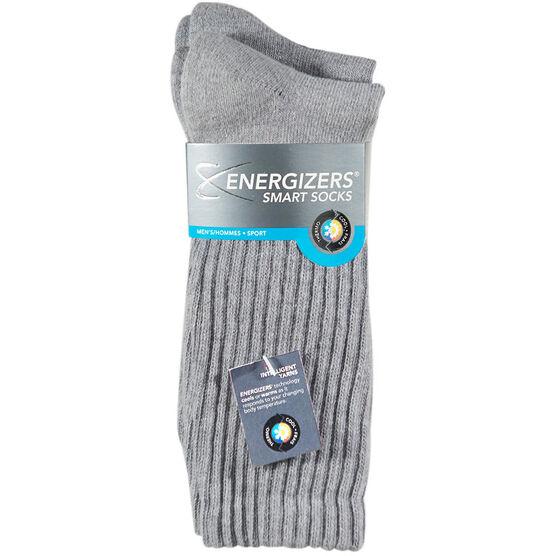 Energizers Men's Sport Crew Socks - 2 pairs - Grey