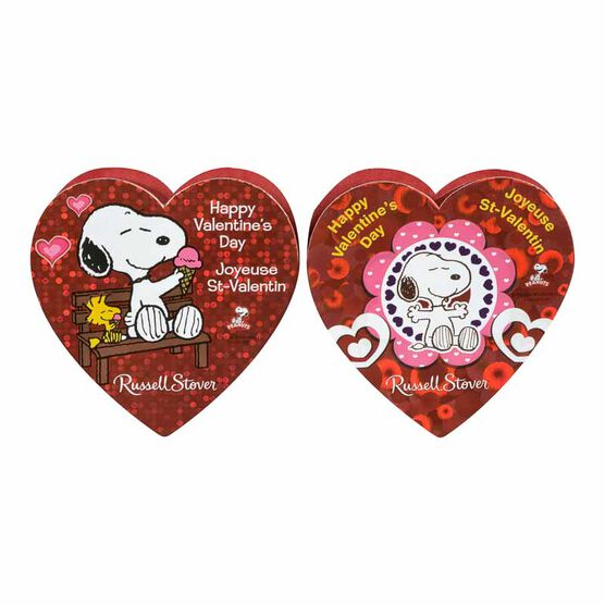 Russell Stover Peanut and Snoopy Heart - Assorted Styles - 50g
