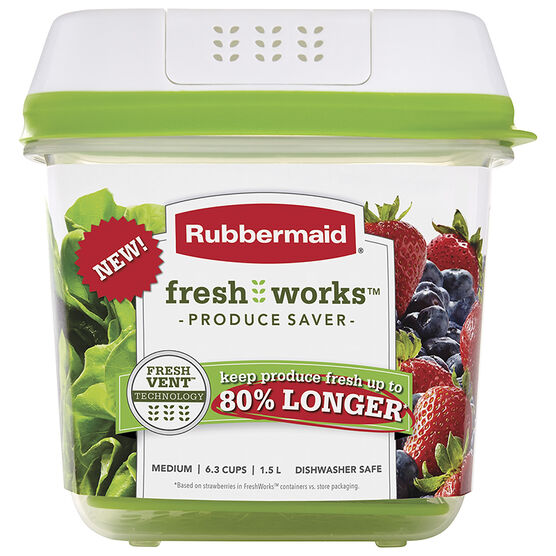 Rubbermaid Fresh Works Produce Saver - Medium - 1.5L