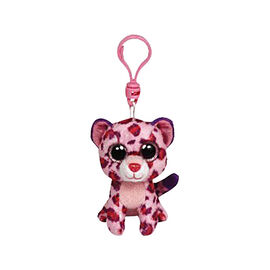 Ty Beanie Boos Clip - Glamour the Pink Leopard
