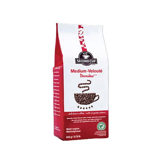 Second Cup Medium Roast Coffee - Paradiso - 340g