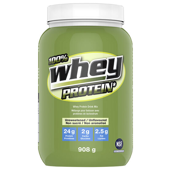100% Whey Protein Powder - Unflavoured Sweetened with Stevia - 908g