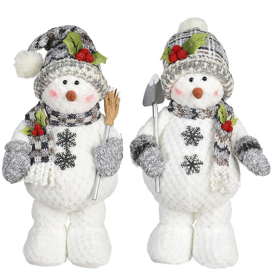 Winter Wishes Standing Snowman - 16in - Assorted
