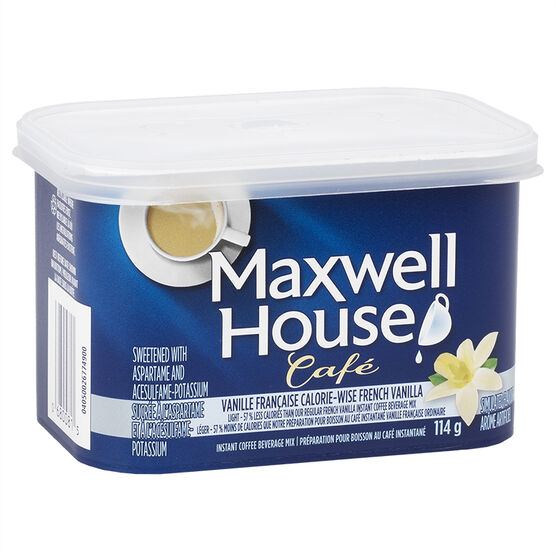 Maxwell House Cafe - French Vanilla Calorie-Wise - 114g
