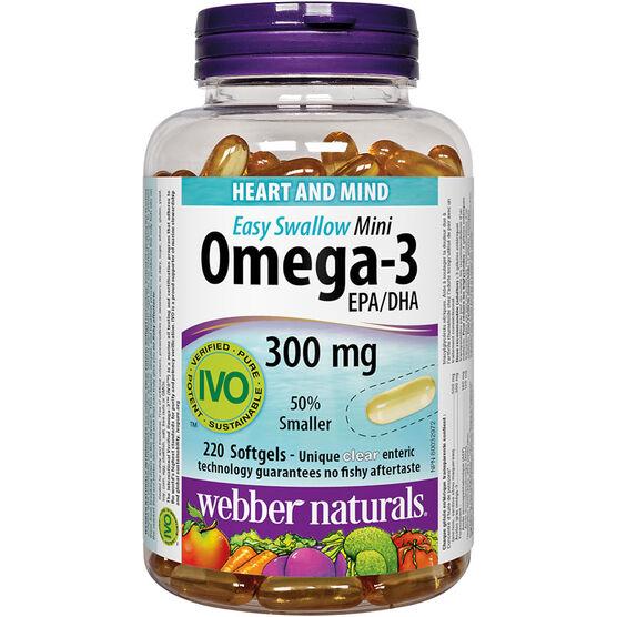 Webber Naturals Omega-3 Mini Softgels - 300mg - 220's