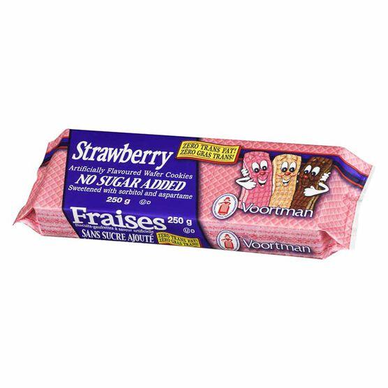 Voortman No Sugar Added Strawberry Wafers - 250 g