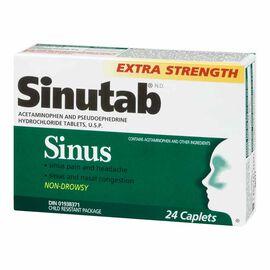Sinutab Sinus Extra Strength Non Drowsy Caplets - 24