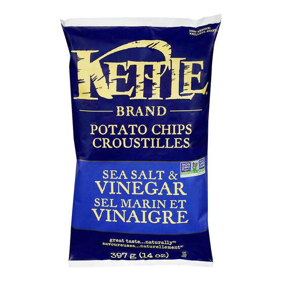 Kettle Brand Potato Chips - Sea Salt & Vinegar - 397g