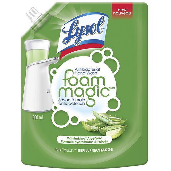 Lysol Foam Magic Antibacterial Hand Wash - Aloe Vera - 800ml