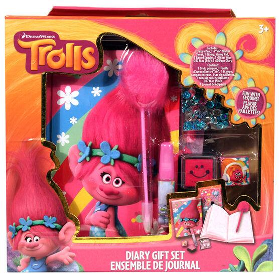 Trolls Diary Gift Set