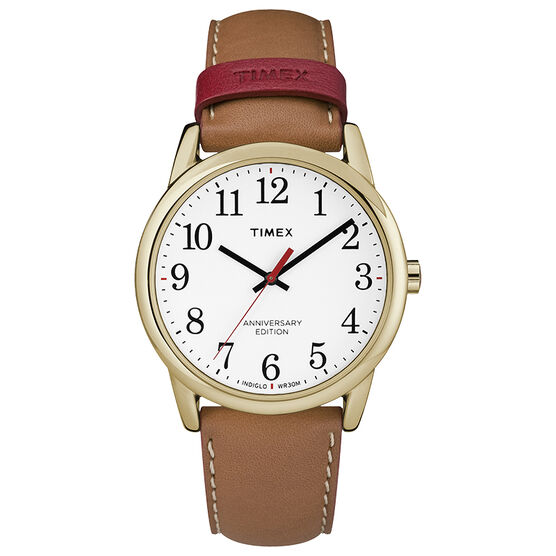 Timex Easy Reader 40th Anniversary Full Size Watch - Brown - TW2R40100NG