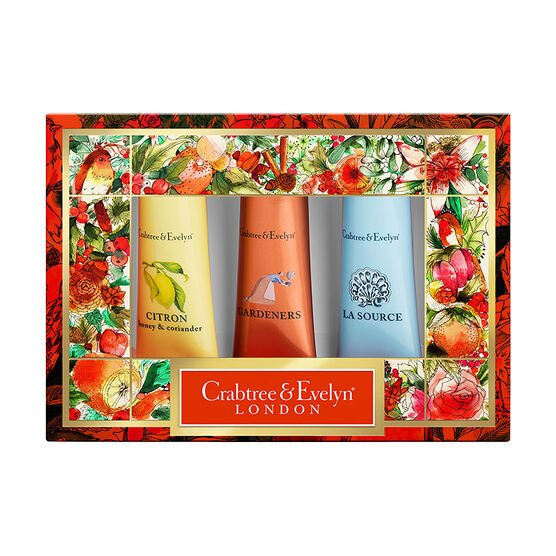 Crabtree & Evelyn Bestseller Hand Therapy Sampler Set - 3x25g