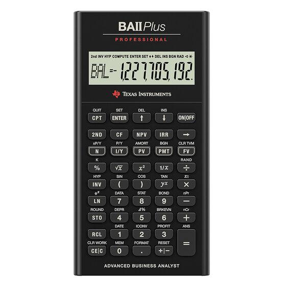 Texas Instruments Financial Calculator BAIIPRO – Financial Calculator