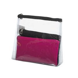Modella Clear Basics Cosmetic Bag Set - 3 Piece