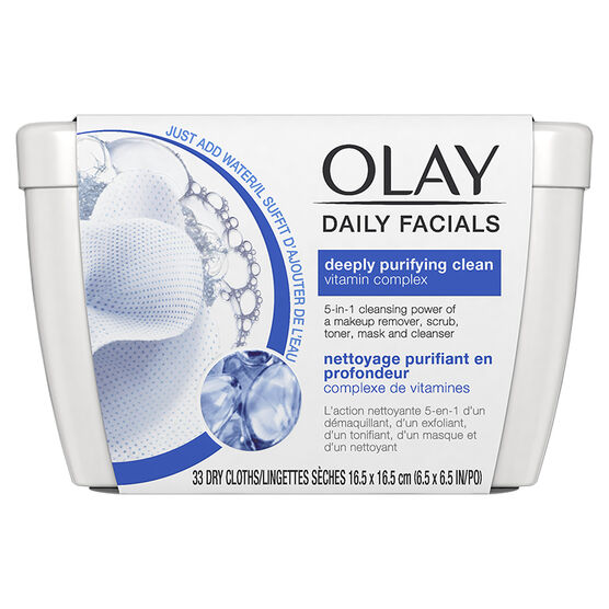 Olay Daily Facials Dry Cloths - Deeply Purifying Clean - 33's