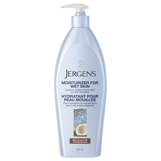 Jergens Moisturizer for Wet Skin with Coconut Oil - 500ml