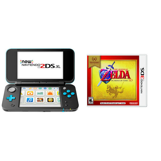 Nintendo New 2DSXL Gaming Console Bundle - Legend of Zelda Ocarina of Time