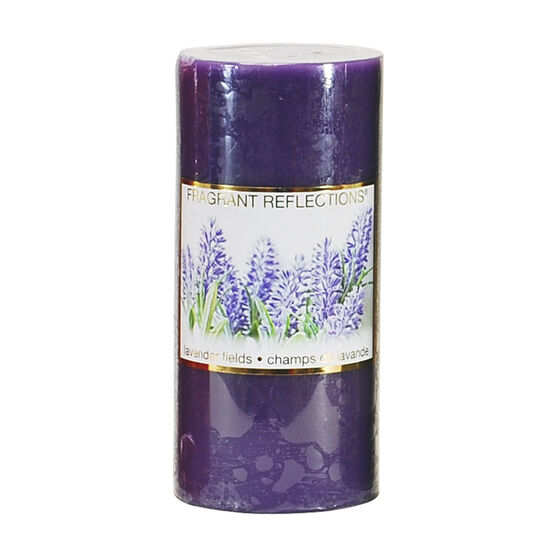 Fragrant Reflections Pillar Candle - Lavender Fields - 6inch