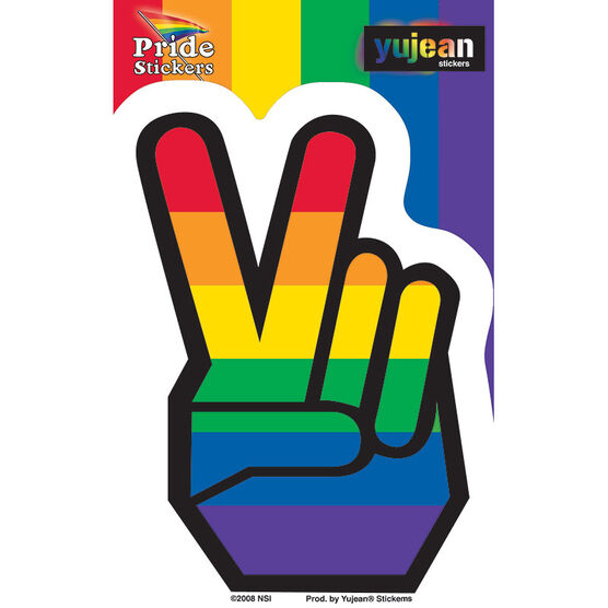 Pride Peace Fingers Sticker