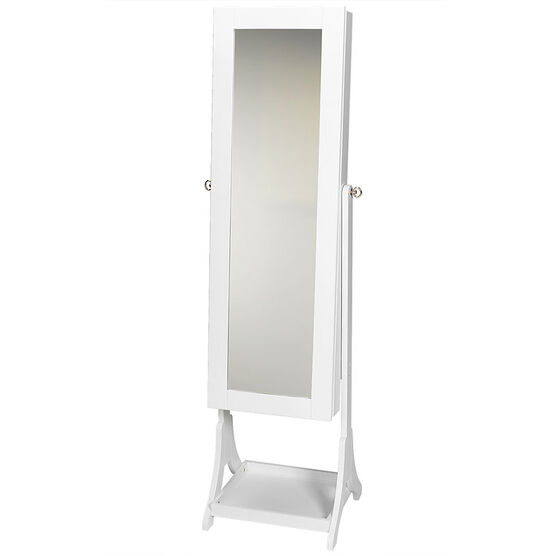 London Drugs Mirror Jewellery Cabinet - White - 41 x 38 x 153cm