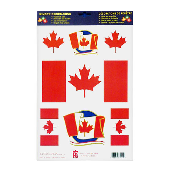 Canada Flag Window Clings
