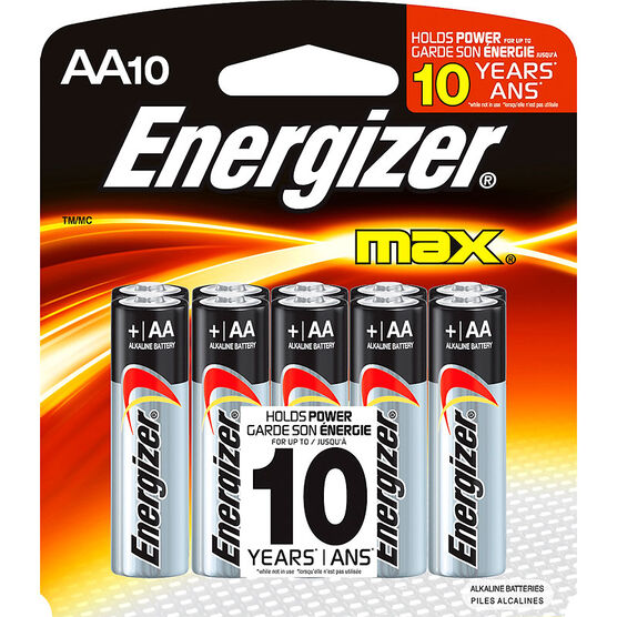Energizer Max AA Batteries - 10 pack